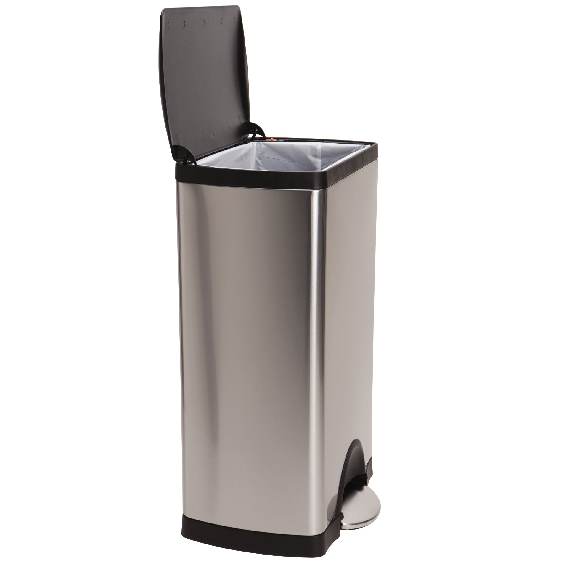 simplehuman Rectangular Step Brushed Stainless Steel Trash Can (13 ...