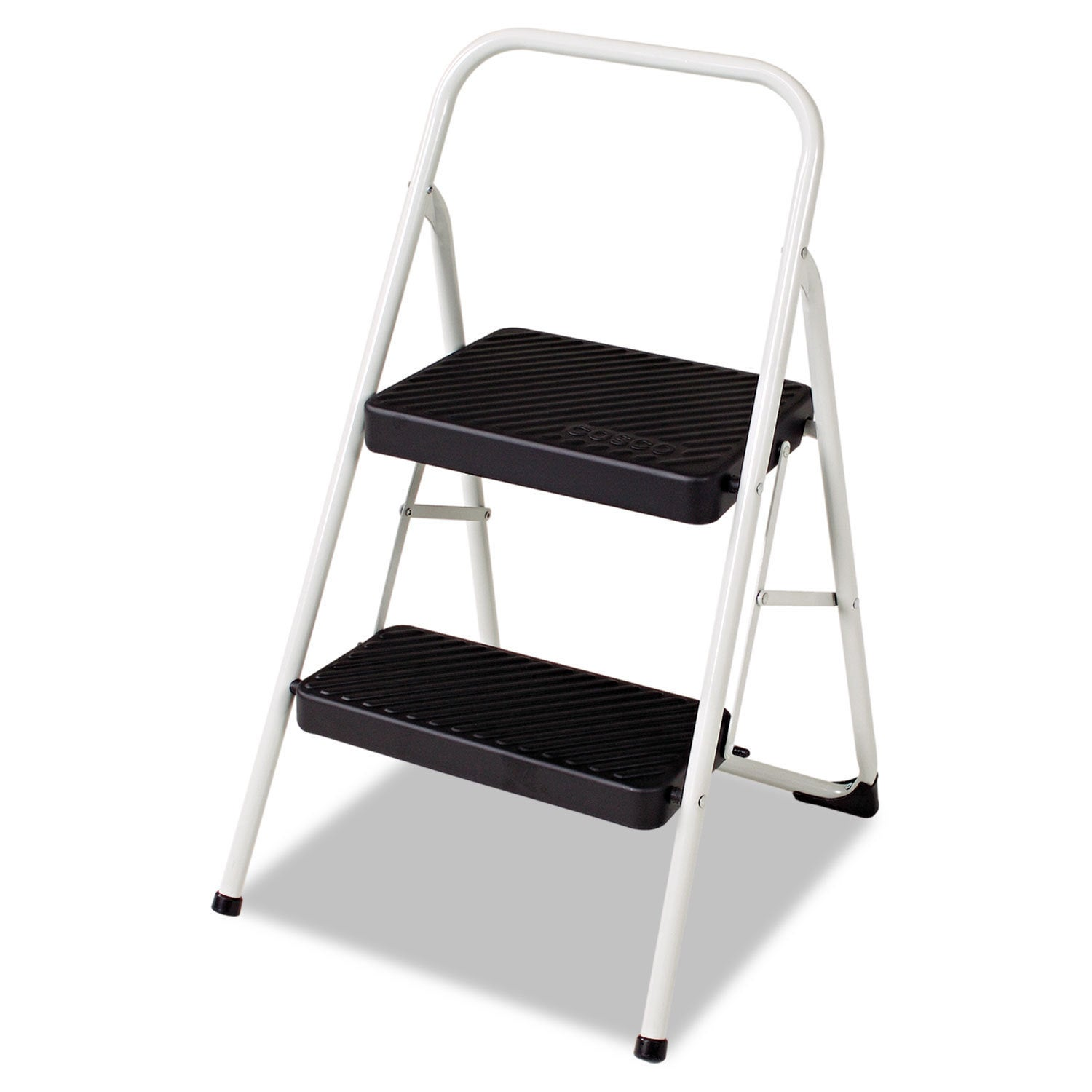 Cosco Cool Grey Two Step Household Folding Step Stool Free