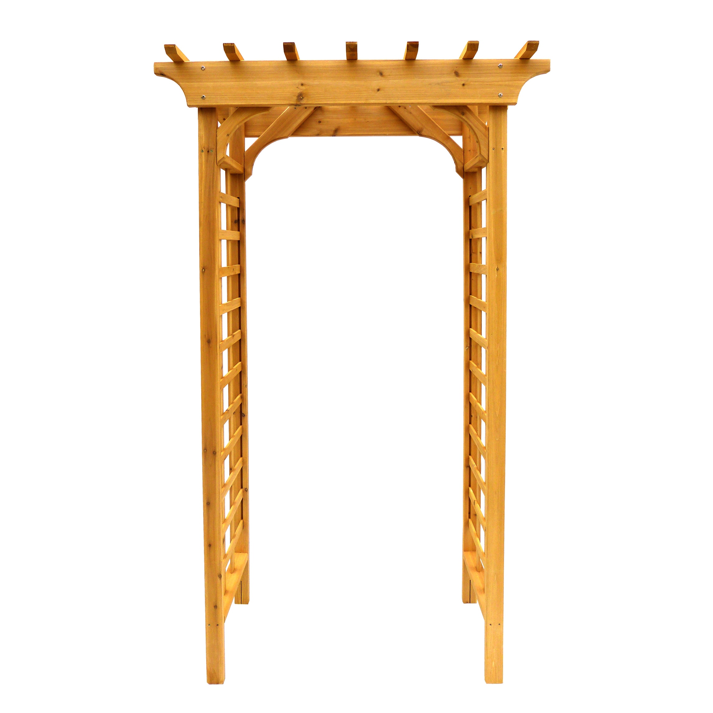arbor wooden arch trellis free shipping today overstock com