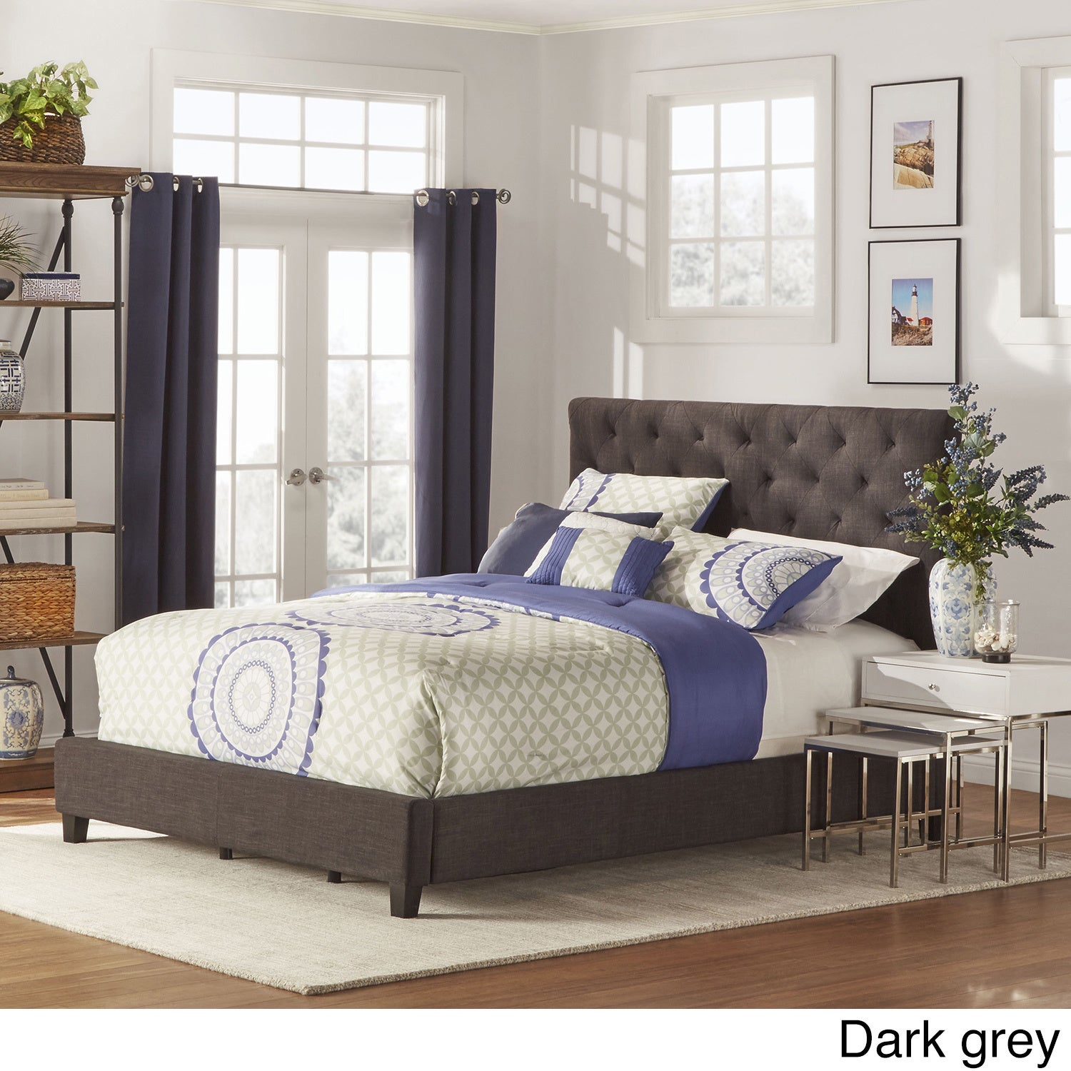 Sophie Tufted Full-size Upholstered Platform Bed by iNSPIRE Q Classic -  Free Shipping Today - Overstock.com - 15396523