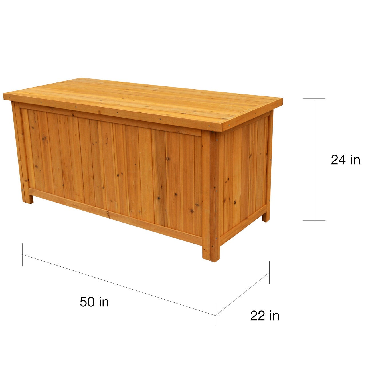 Solid Wood Deck Storage Box Free Shipping Today 8037683