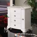 Sally Pure White 2-Door Jewelry Box