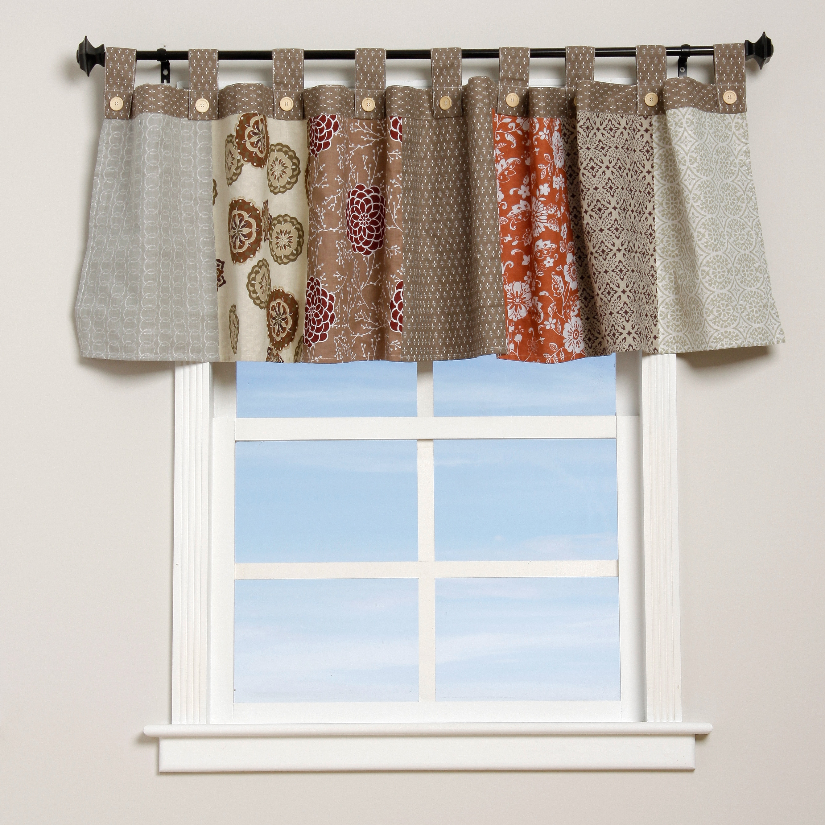 traditions valance damask dp by com up kitchen poppy waverly ascot home amazon dressed blue inch