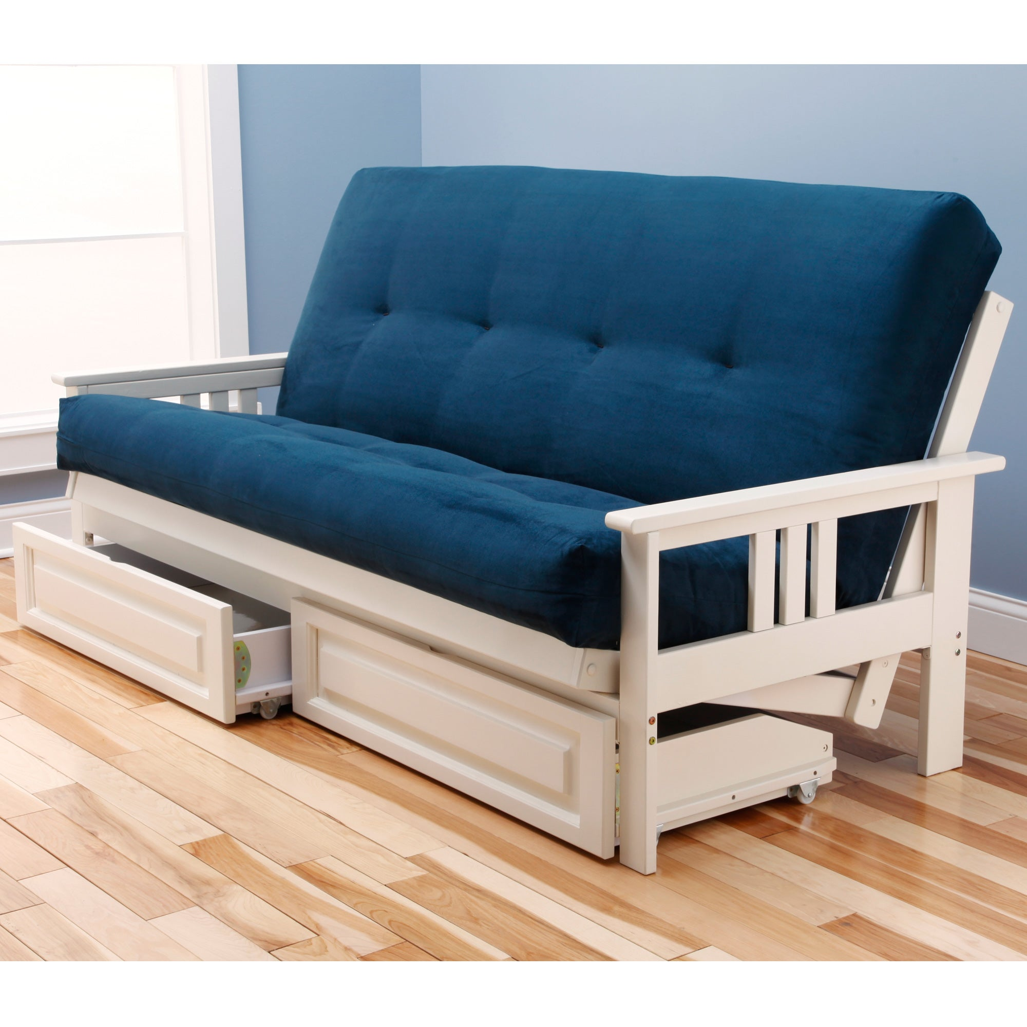 Somette Suedette Full Size Solid Futon Cover Free Shipping Today 15416414