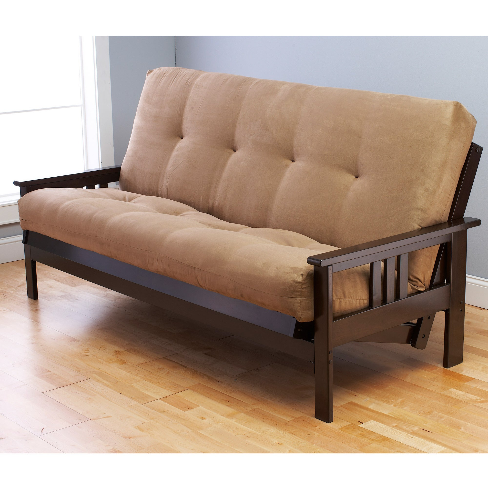 somette suedette full size solid futon cover   free shipping today   overstock     15416414 somette suedette full size solid futon cover   free shipping today      rh   overstock