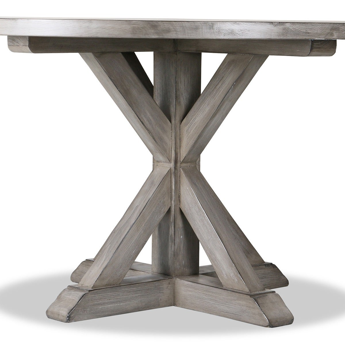 La Phillippe Reclaimed Wood Round Dining Table Free Shipping Today