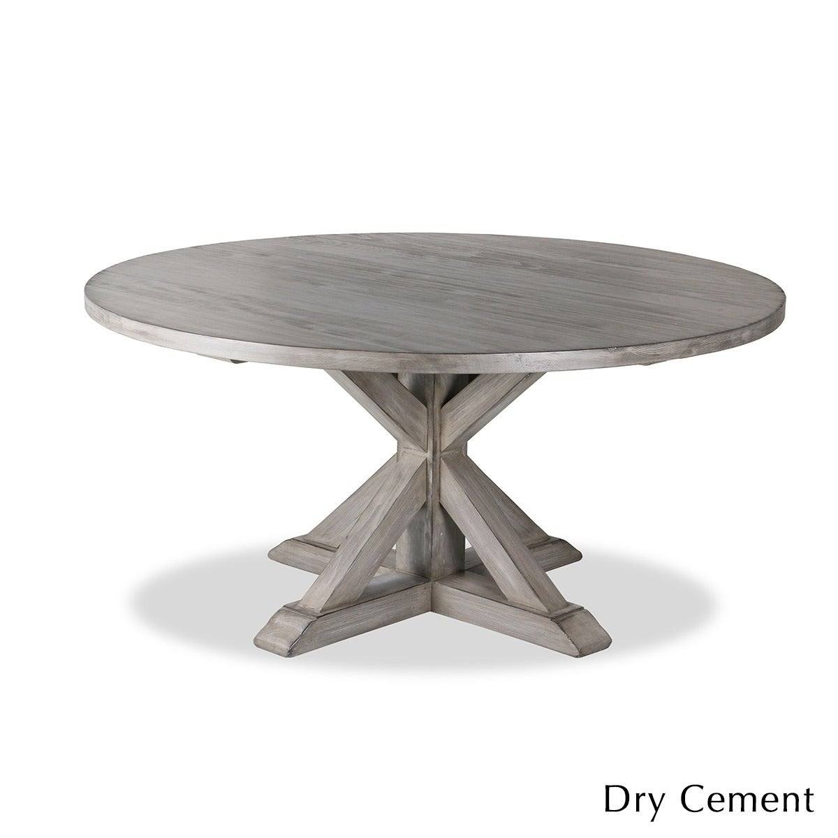 Shop La Phillippe Reclaimed Wood Round Dining Table Free Shipping - Round pedestal dining table gray