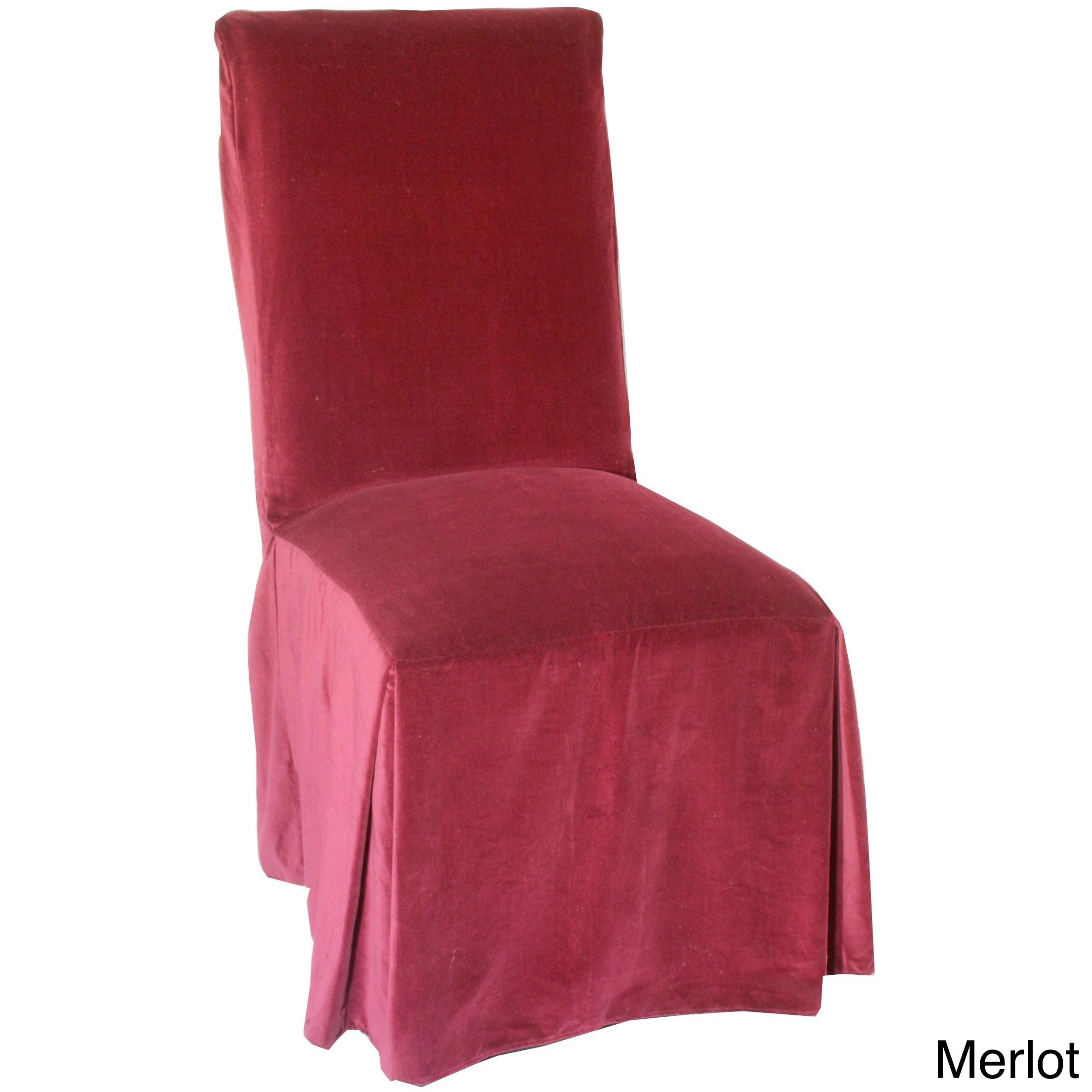 Clic Slipcovers Velvet Dining Chair Slipcover Set Of 2 Free Shipping On Orders Over 45 8060249
