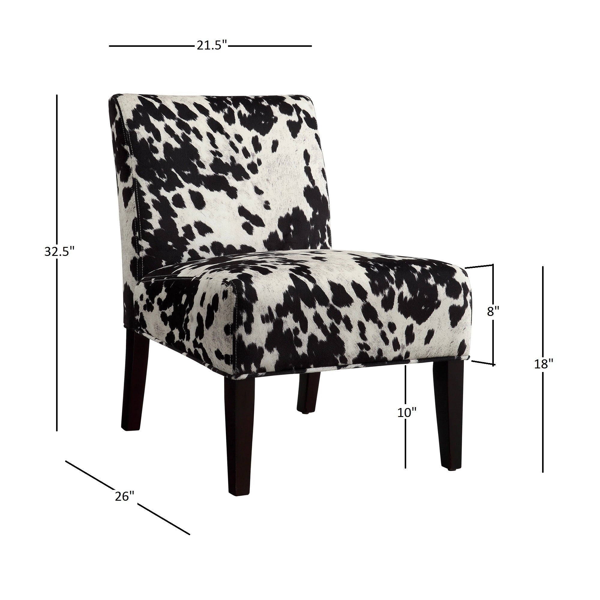 Exceptional Black And White Faux Cow Hide Fabric Accent Chair By INSPIRE Q Bold   Free  Shipping Today   Overstock.com   15416949