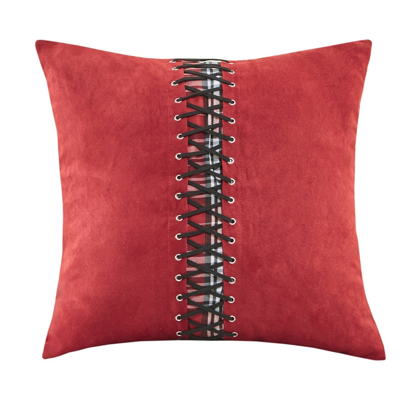 culture shop maine rectangle home lumbar pillow accessories red