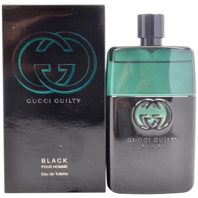 fe5aa8d25 Shop Gucci Guilty Black Pour Homme Men's 3-ounce Eau de Toilette ...