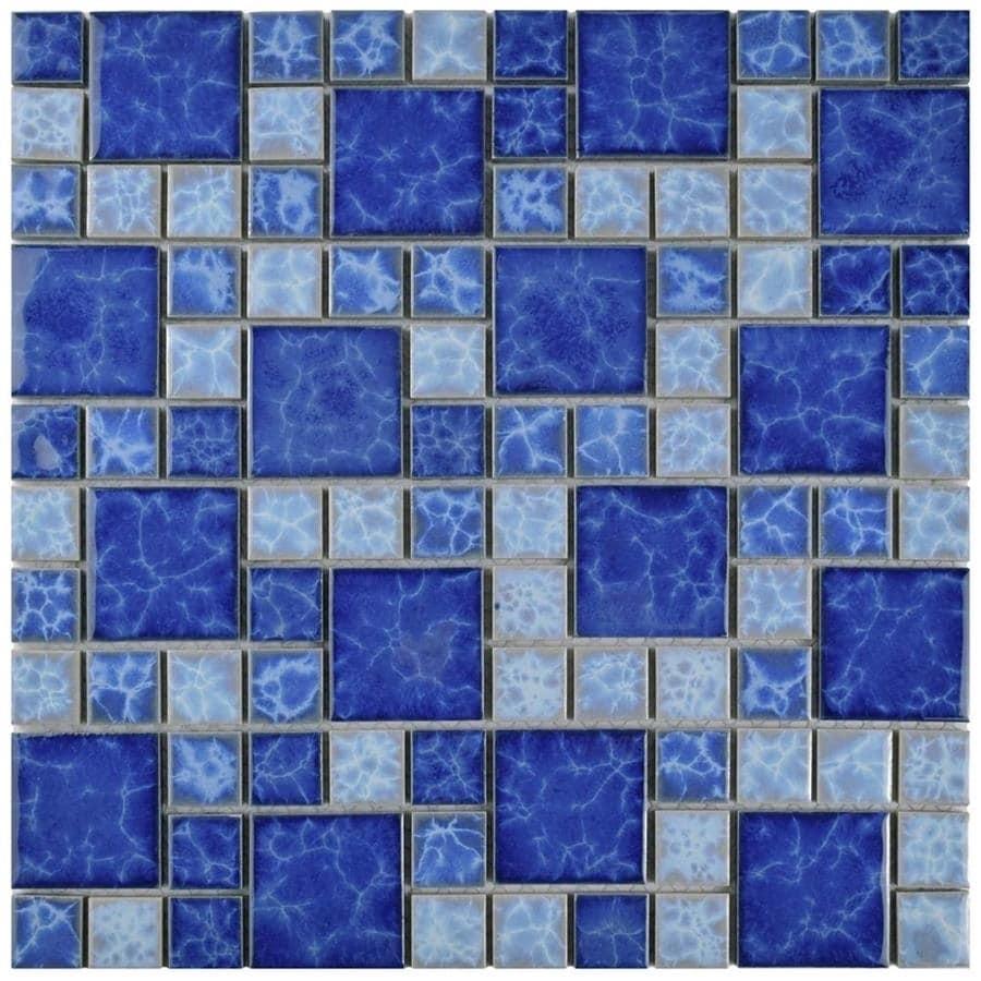 SomerTile 11.75x11.75-inch Watermark Versailles Adriatic Porcelain ...