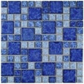 SomerTile 11.75x11.75-inch Watermark Versailles Adriatic Porcelain Mosaic Floor and Wall Tile (Pack