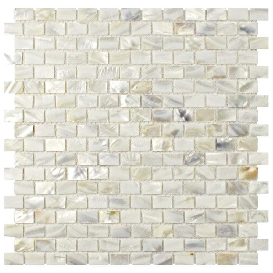 Somertile 1175 x 1175 inch seashell subway white mosaic wall somertile 1175 x 1175 inch seashell subway white mosaic wall tile pack of 10 free shipping today overstock 15417818 dailygadgetfo Choice Image