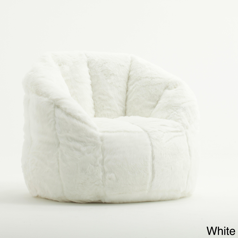 Beansack Joe Milano Faux Fur Bean Bag Chair Free Shipping Today 8061976
