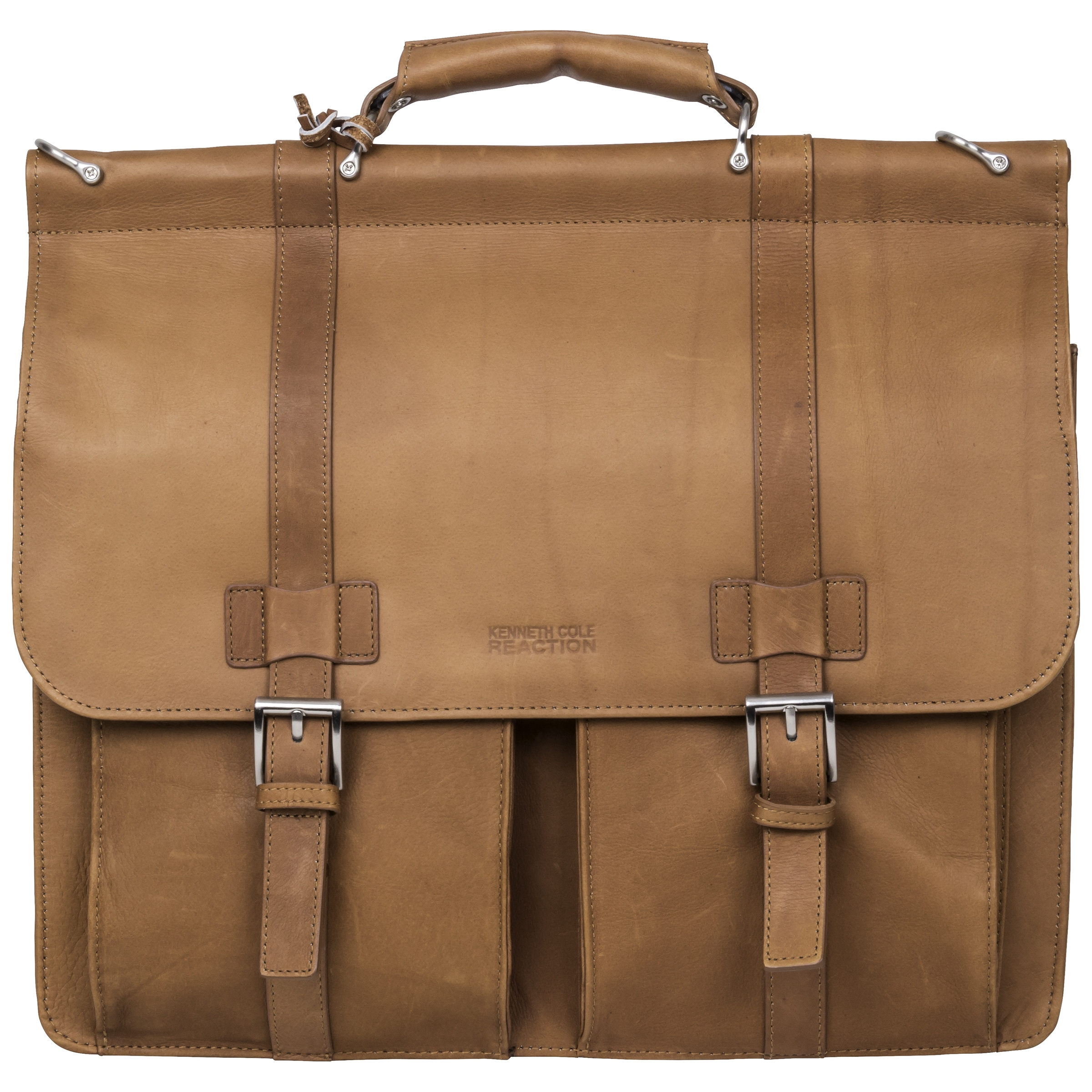 Kenneth Cole Reaction Colombian Leather Double Compartment Flapover ...