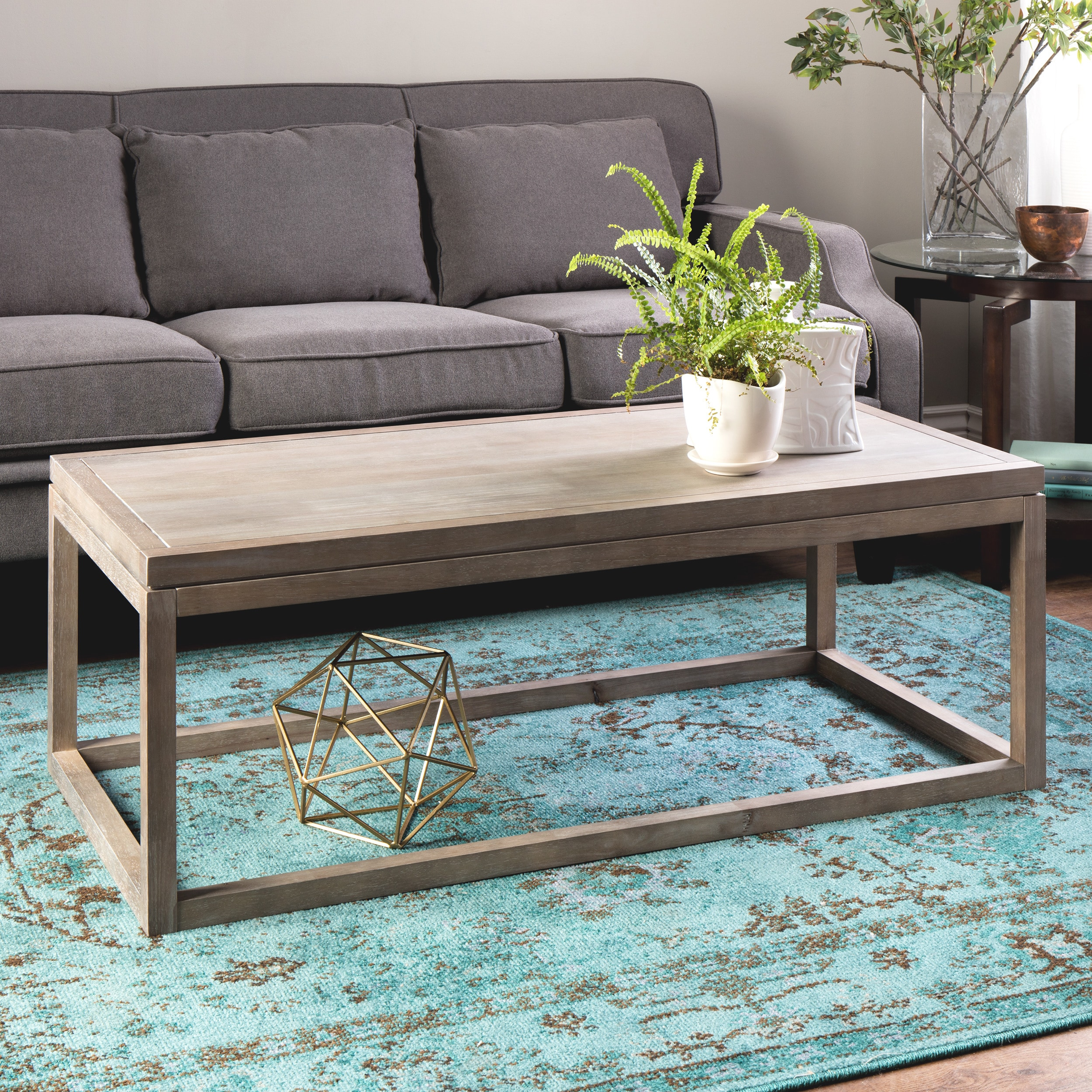 Shop Clay Alder Home Studio Dove Finish Coffee Table   Free Shipping Today    Overstock.com   8066554
