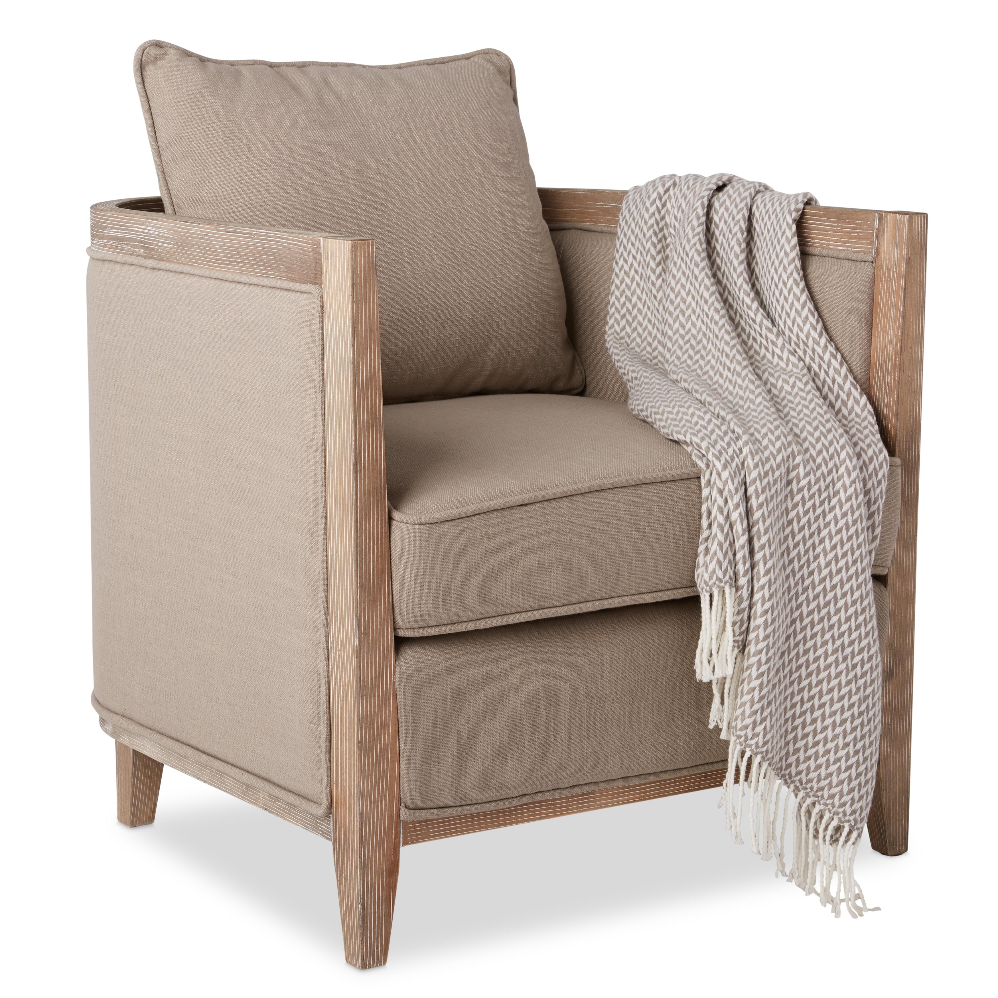 carbon loft elliot beige linen lounge chair free shipping today