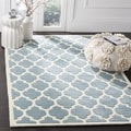 Safavieh Handmade Moroccan Blue Pure Wool Rug (7' Square)
