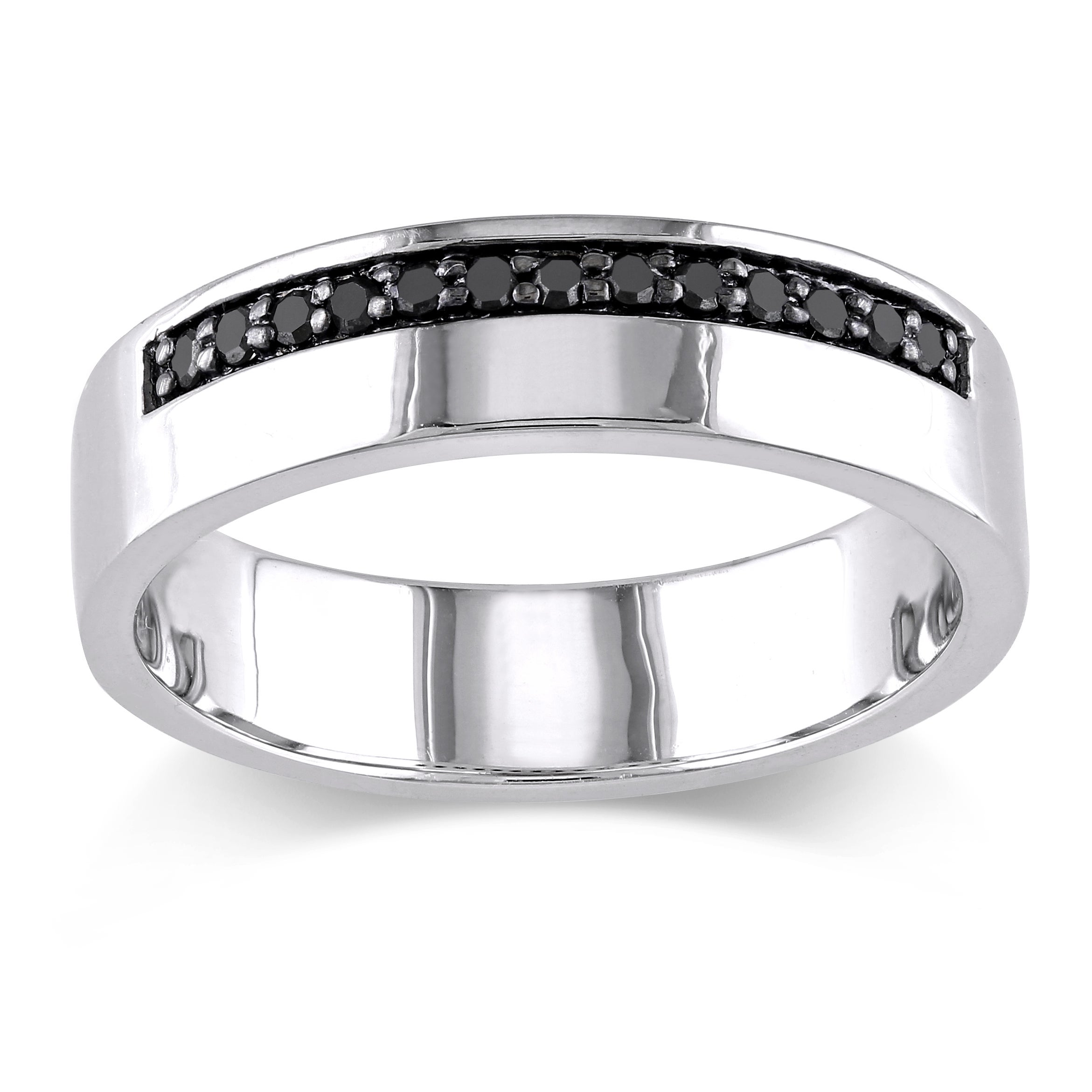 alpha bands mirell l concave ring men black shop edward diamond with diamonds s titanium rings