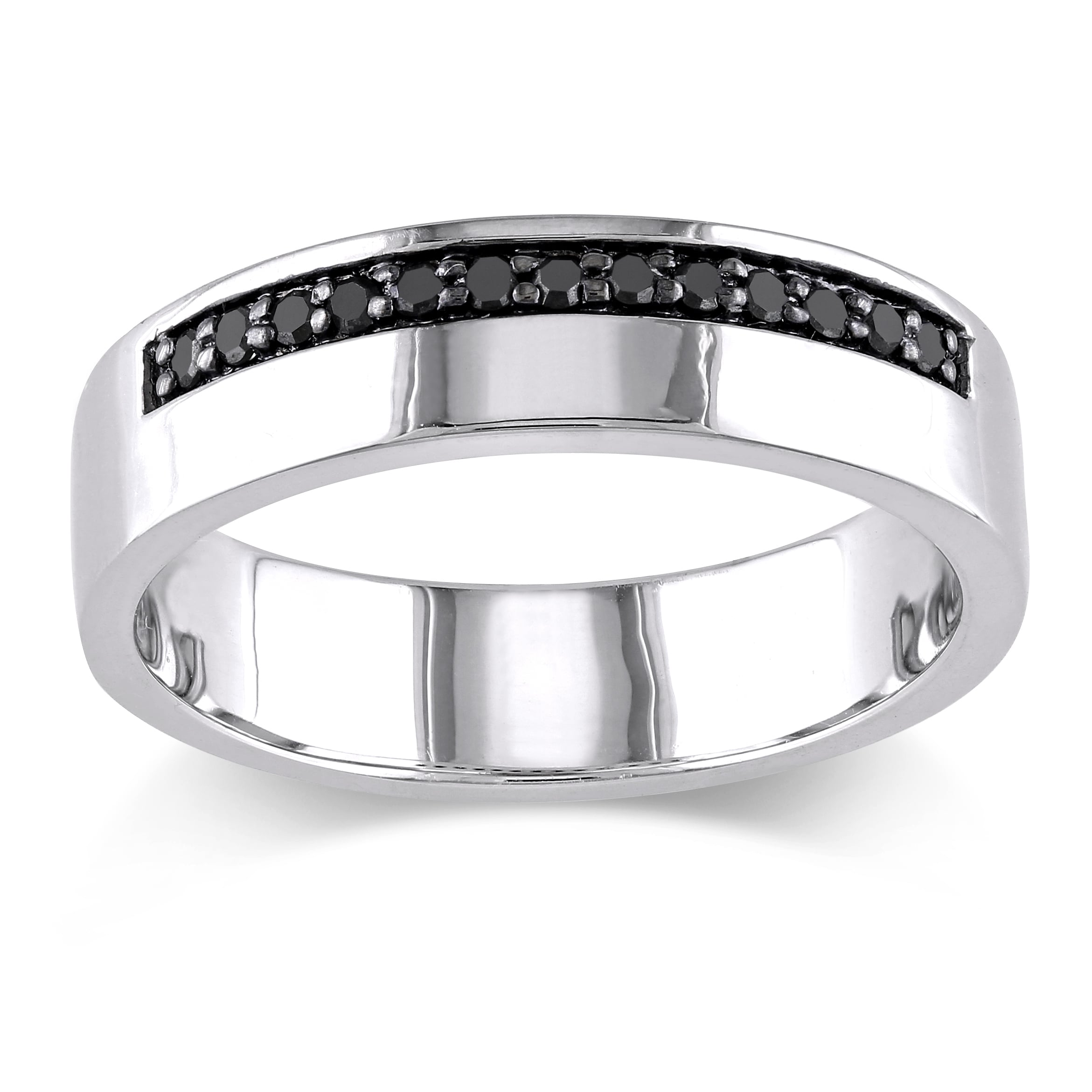 mens band ring products diamond bands black silver wedding carpe diem