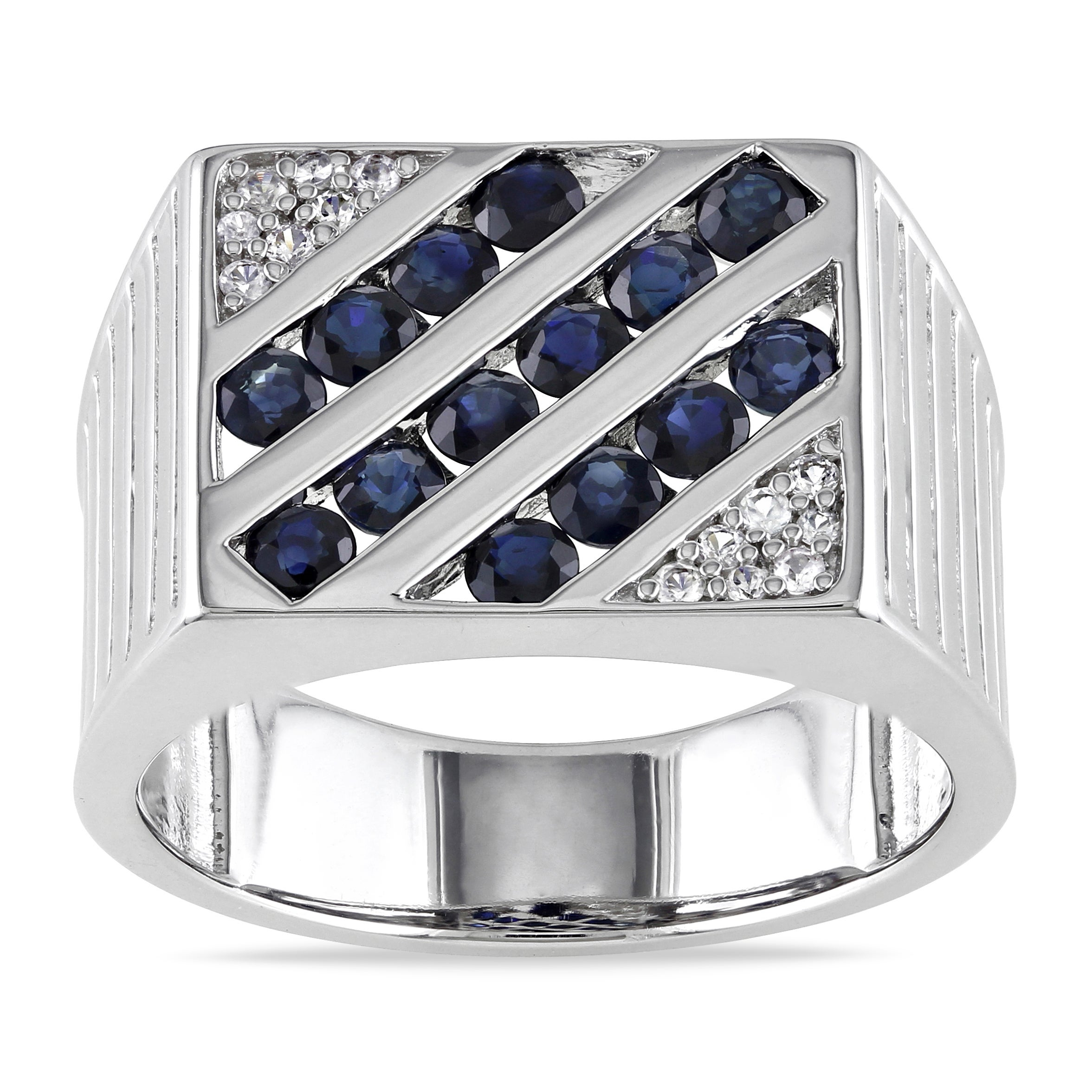 tungsten sapphire white black in triton band mens