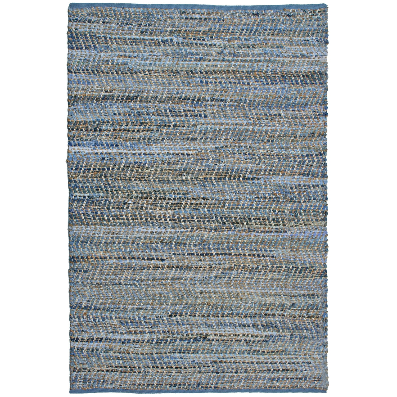 Blue Jeans Hand Woven Denim Hemp Area Rug 9 X 12 Free Shipping Today 15437147
