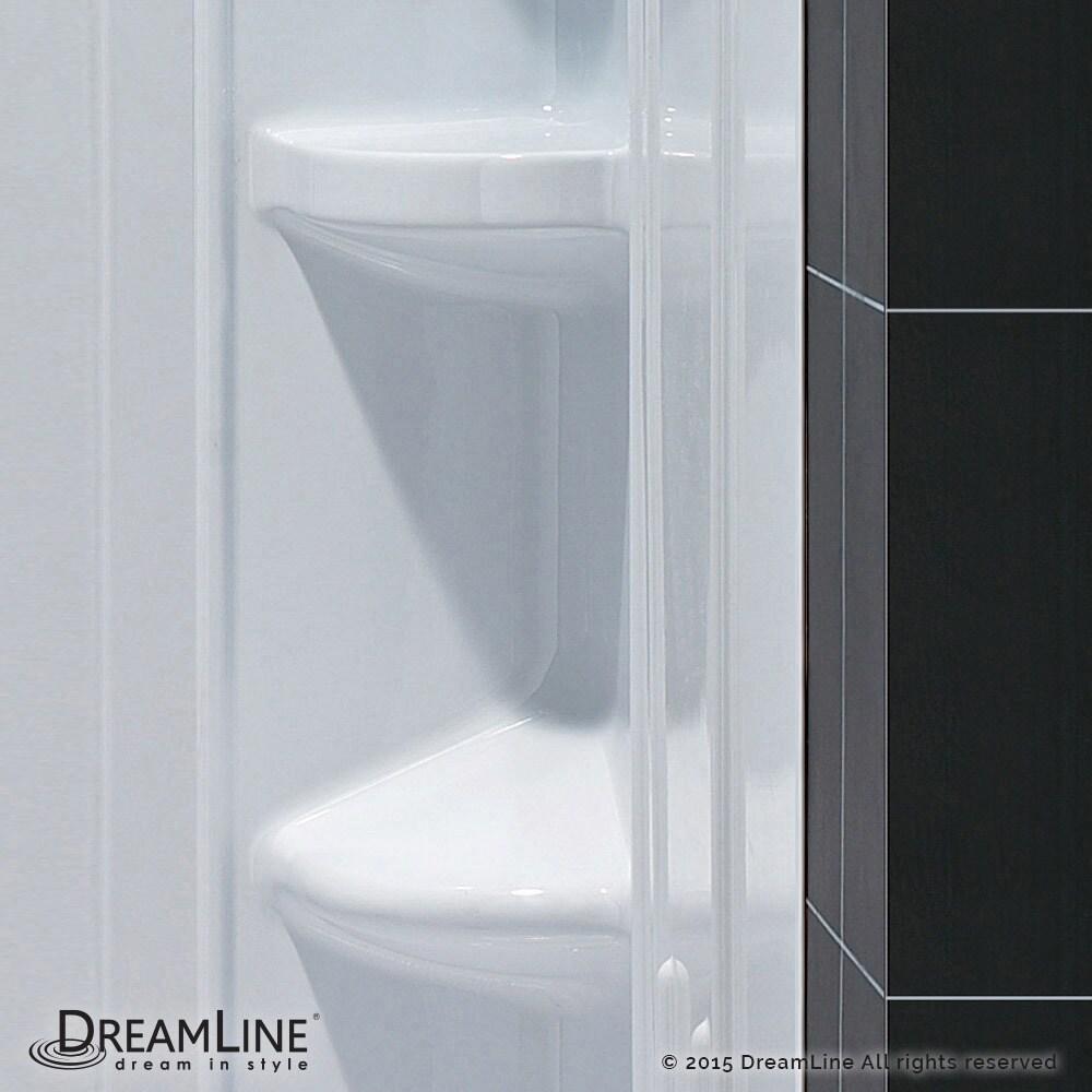 Shop DreamLine 34 in. D x 60 in. W x 75 5/8 in. H SlimLine Single ...