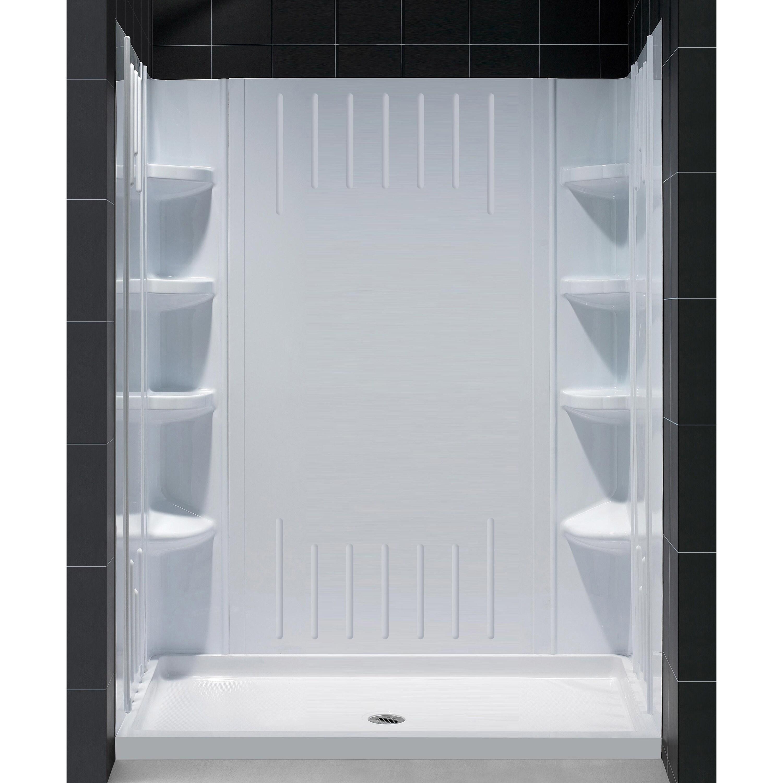 Shop DreamLine SlimLine 36 in. by 60 in. Single Threshold Shower ...