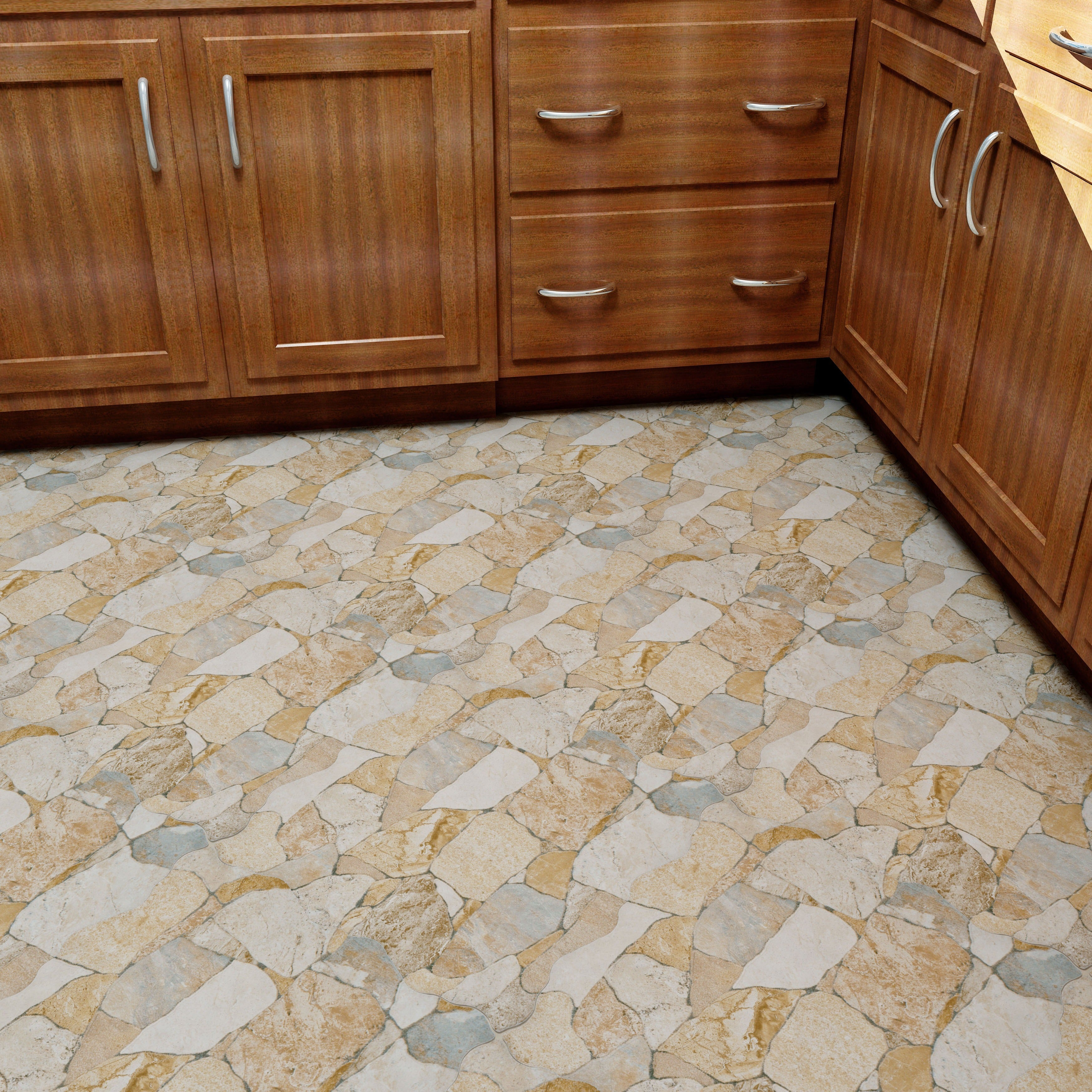 SomerTile 17 75x17 75 inch Atticus Beige Ceramic Floor and Wall Tile