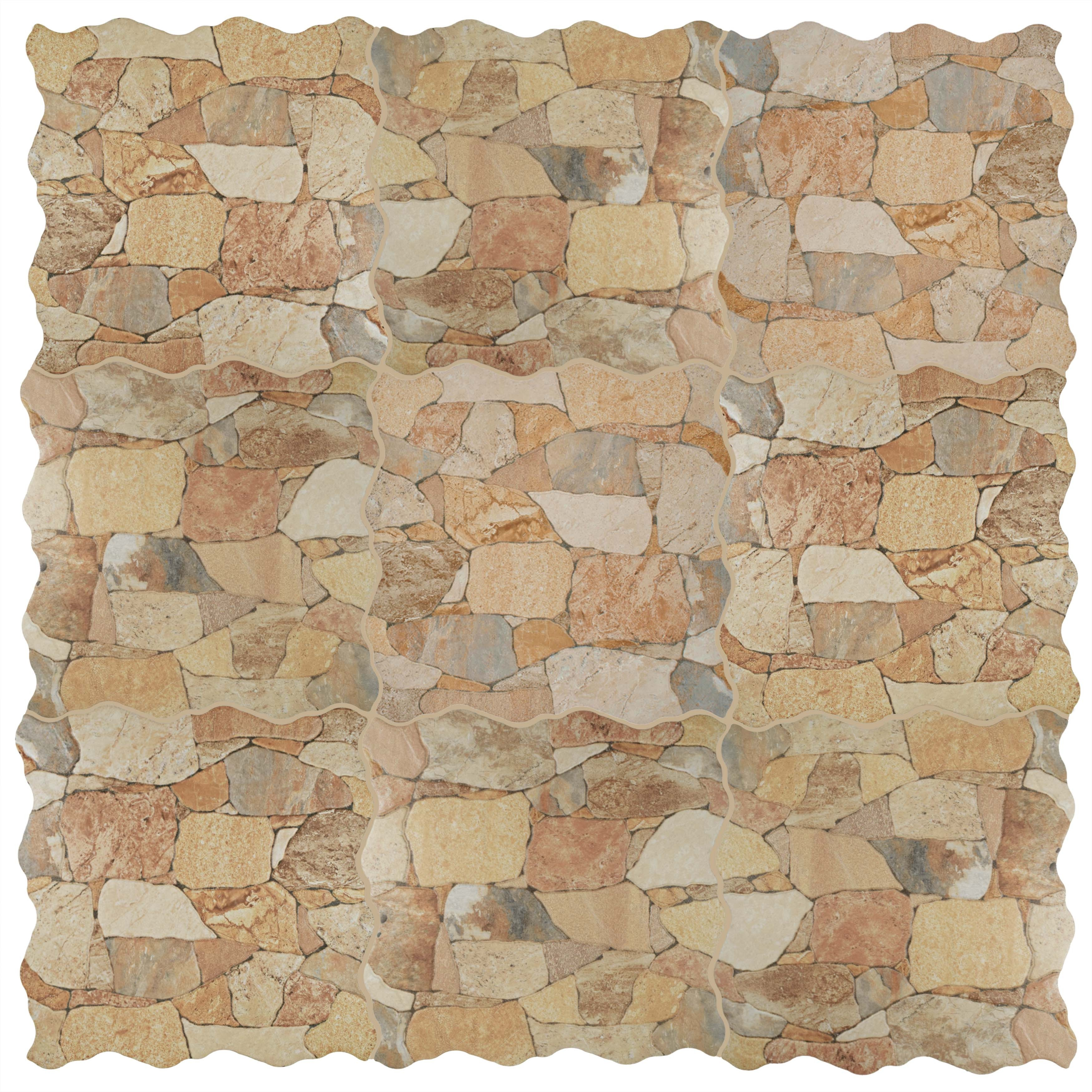 Shop Somertile 1775x1775 Inch Atticus Beige Ceramic Floor And Wall