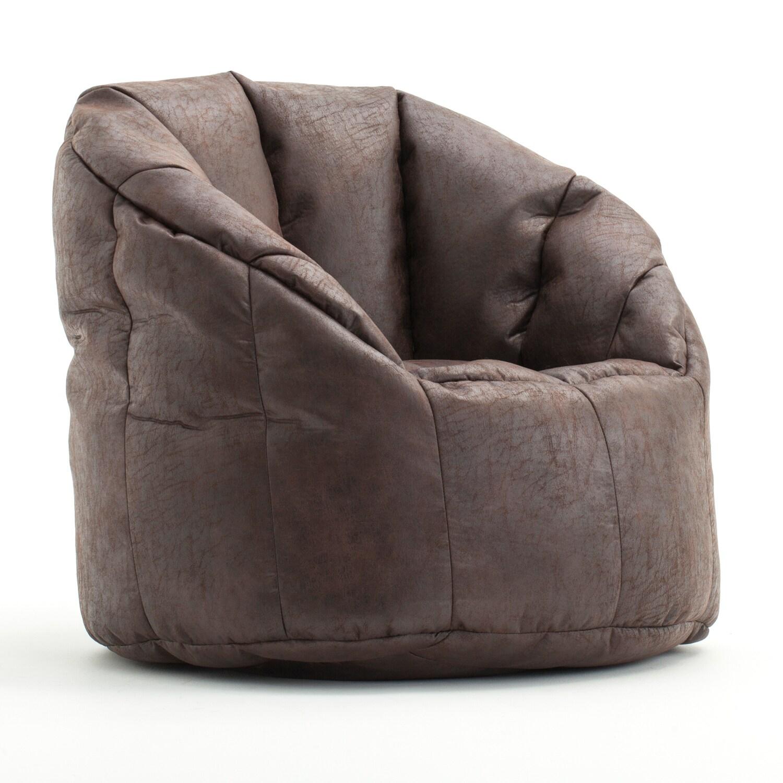 Shop Beansack Big Joe Milano Faux Leather Bean Bag Chair Free