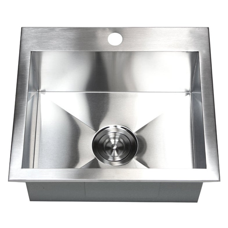 19 Inch 16 Gauge Stainless Steel Topmount Drop In Kitchen Island Bar Sink    Free Shipping Today   Overstock.com   15442028