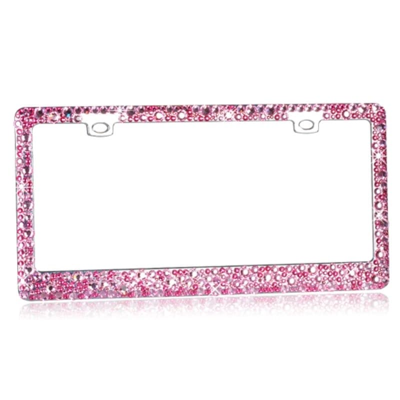 Shop INSTEN Pink Crystal License Plate Frame - Free Shipping Today ...