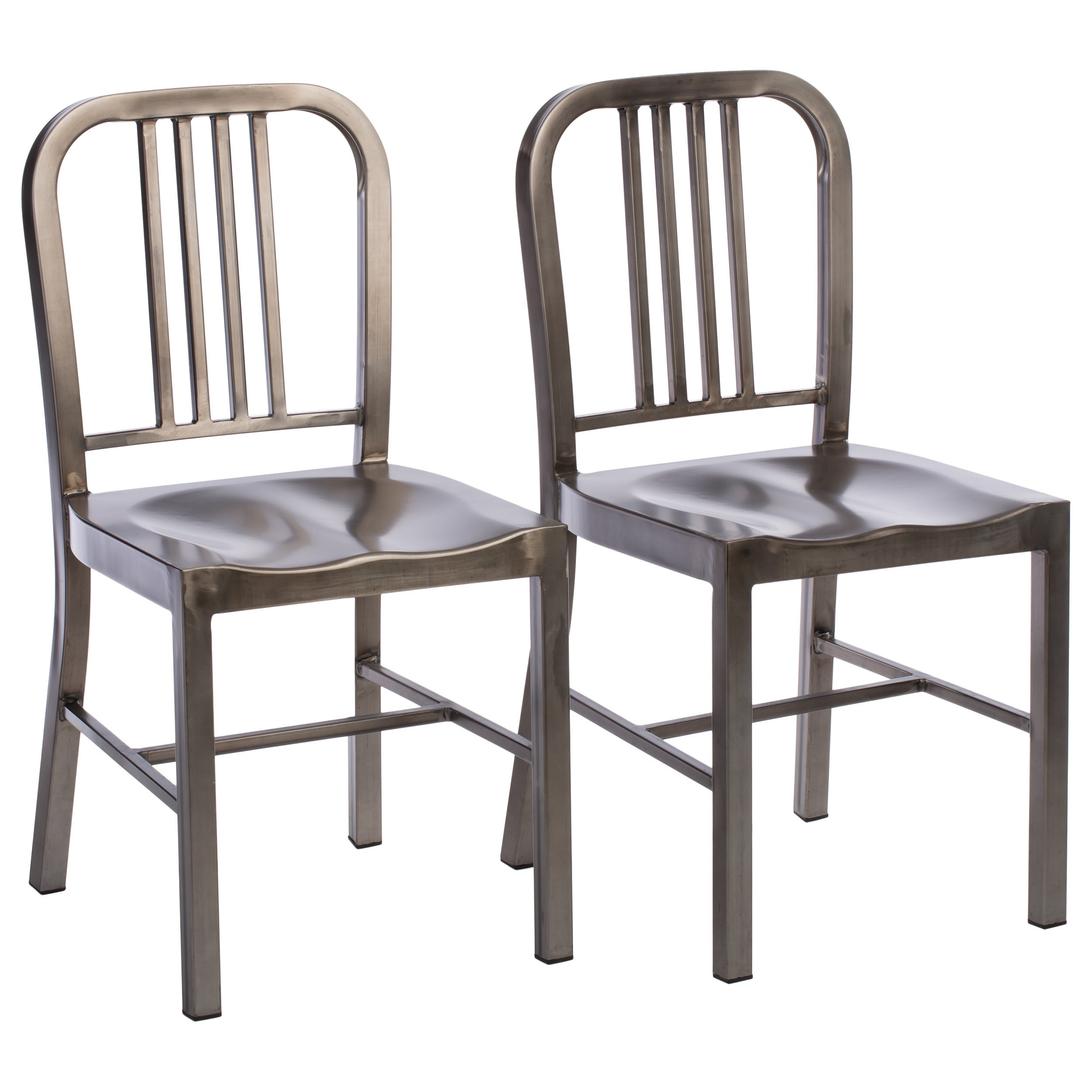 Attractive Clay Alder Home Vintage Metal Dining Chairs (Set Of 2)   Free Shipping  Today   Overstock   15446939