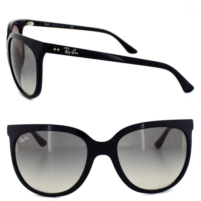 ef3ae1fe07b Shop Ray-Ban Women s Shiny Black Plastic Sunglasses - Ships To Canada -  Overstock - 8099576
