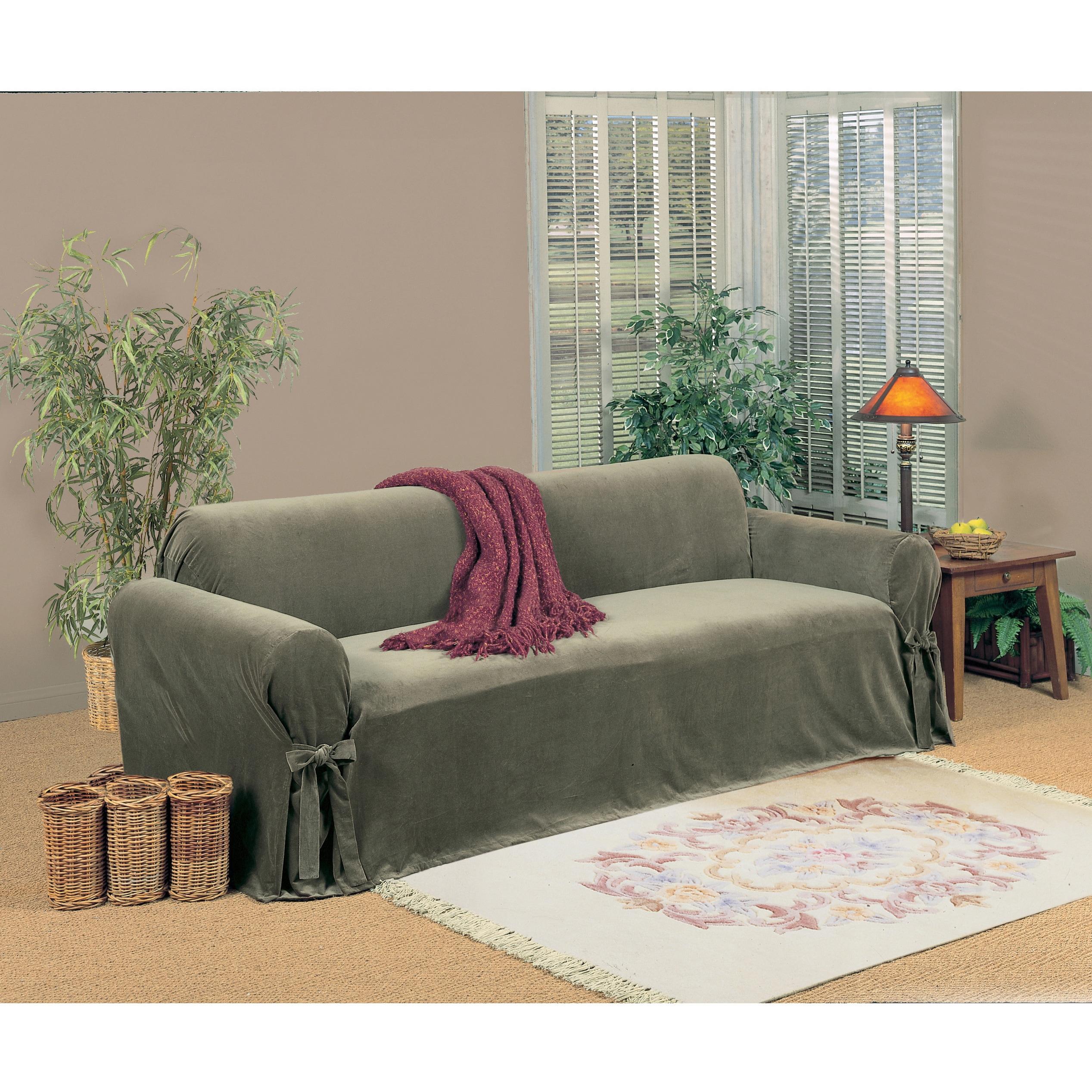 Clic Slipcovers Microfiber Velvet Sofa Slipcover Free Shipping Today 8101775
