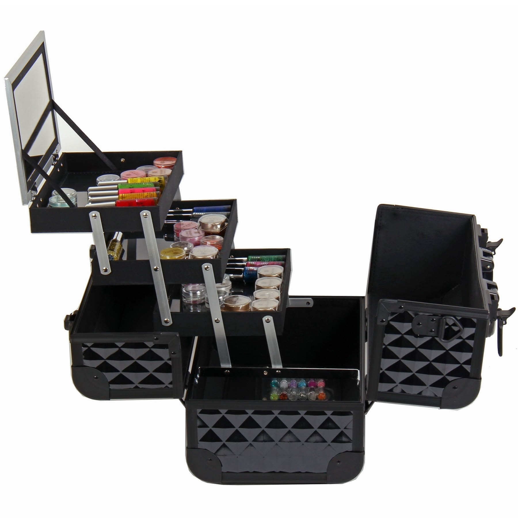 Shop SHANY Premium Collection Black Diamond Makeup Train Case - Free Shipping Today - Overstock - 8103082