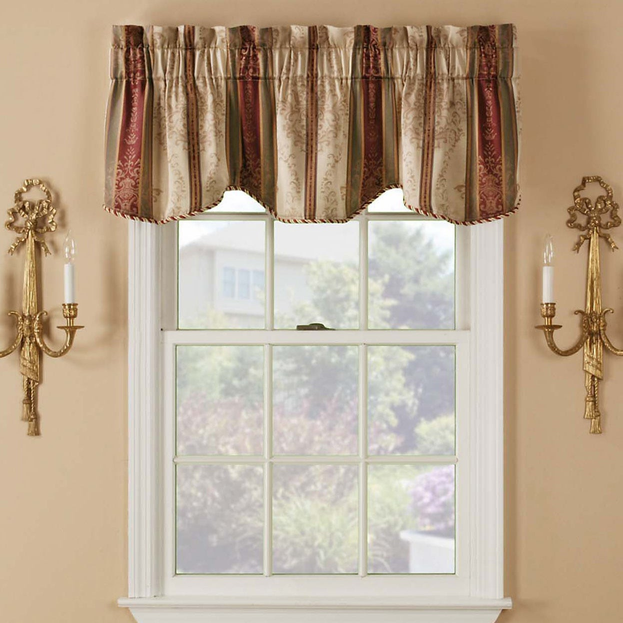 waverly sage classics shop inch at pd cotton pocket in home valance rod