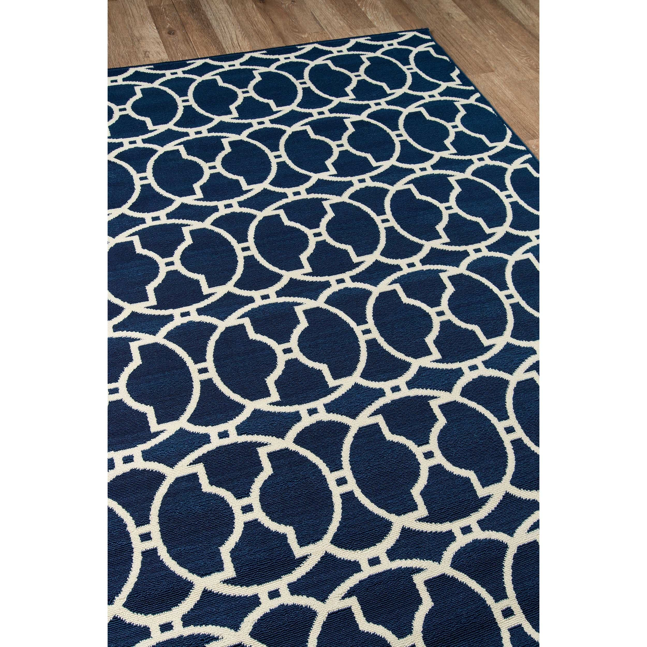 Momeni Baja Moroccan Tile Navy Indoor Outdoor Area Rug 7 10 x 10