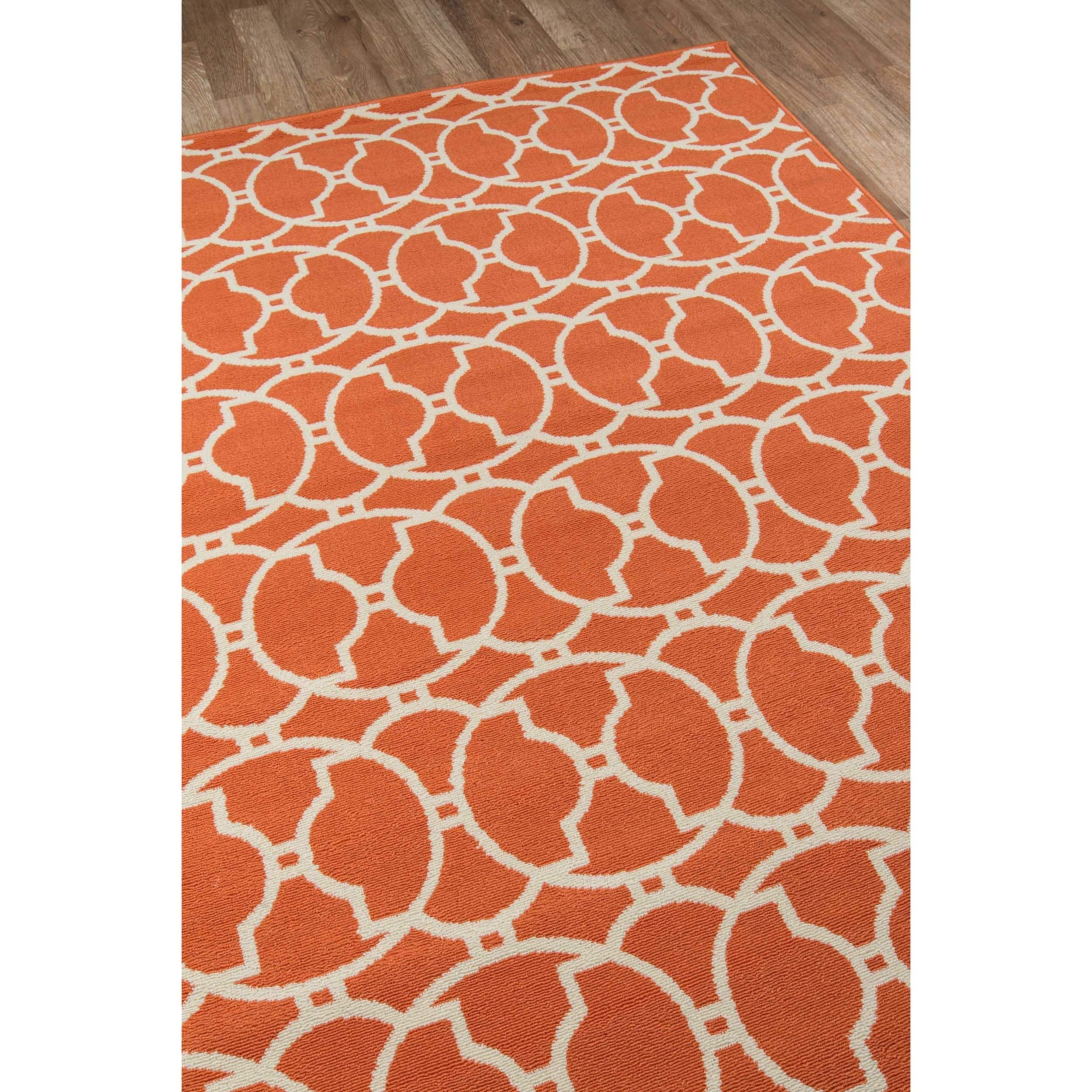 Momeni Baja Moroccan Tile Orange Indoor Outdoor Area Rug 6 7 x 9