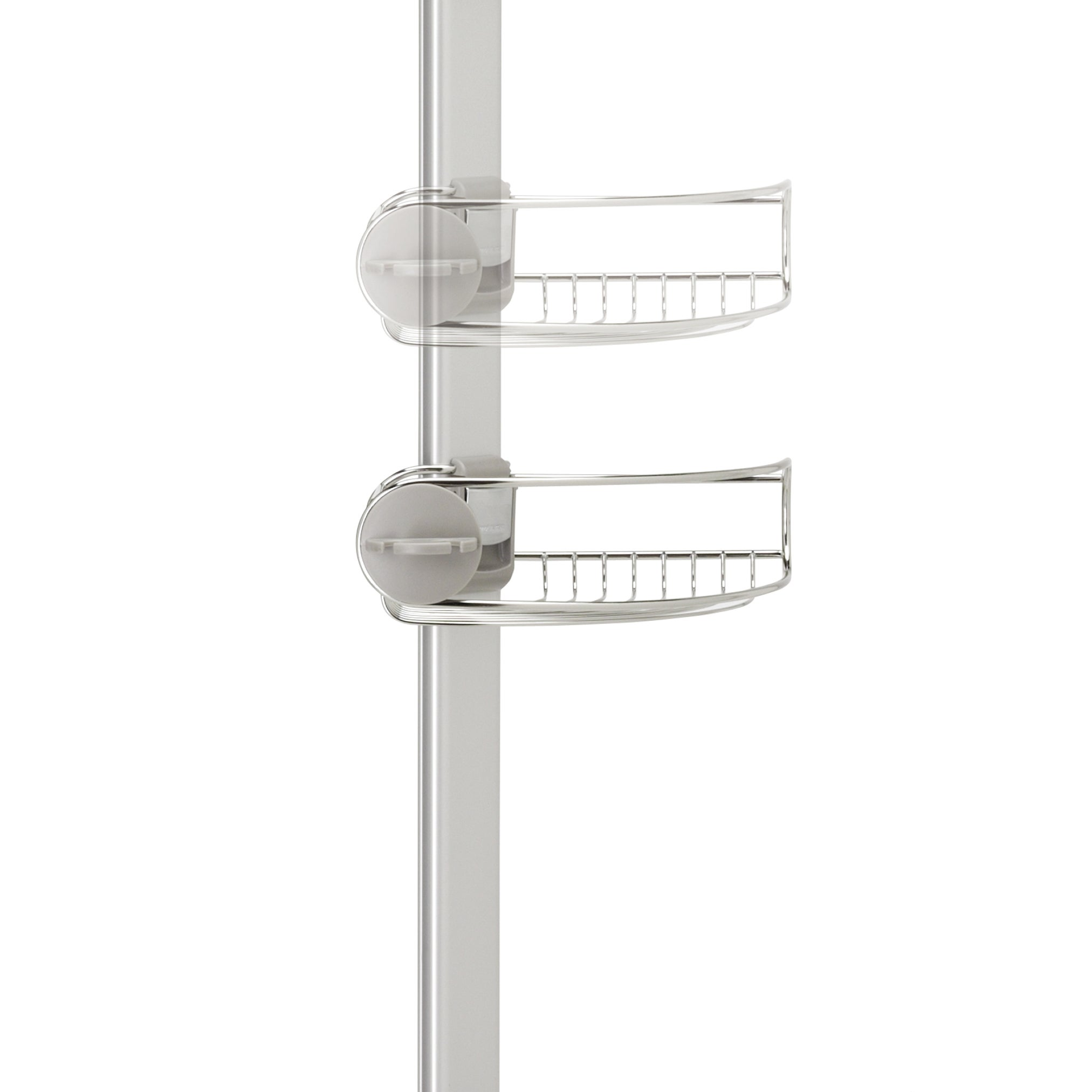 Shop Simplehuman Adjustable Tension Shower Caddy - Free Shipping ...