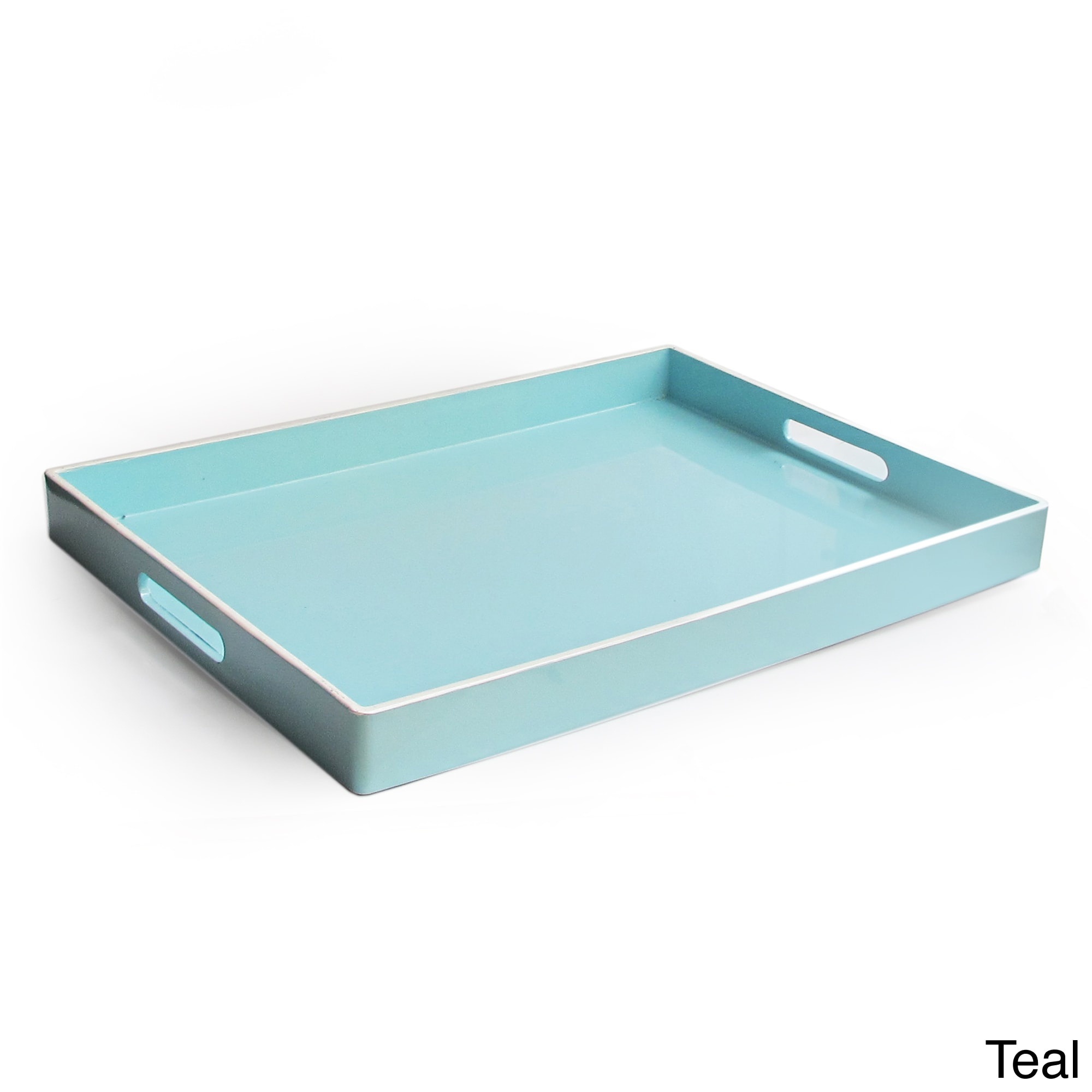 Excellent Rectangular Serving Tray with Handles - Free Shipping On Orders  KG83