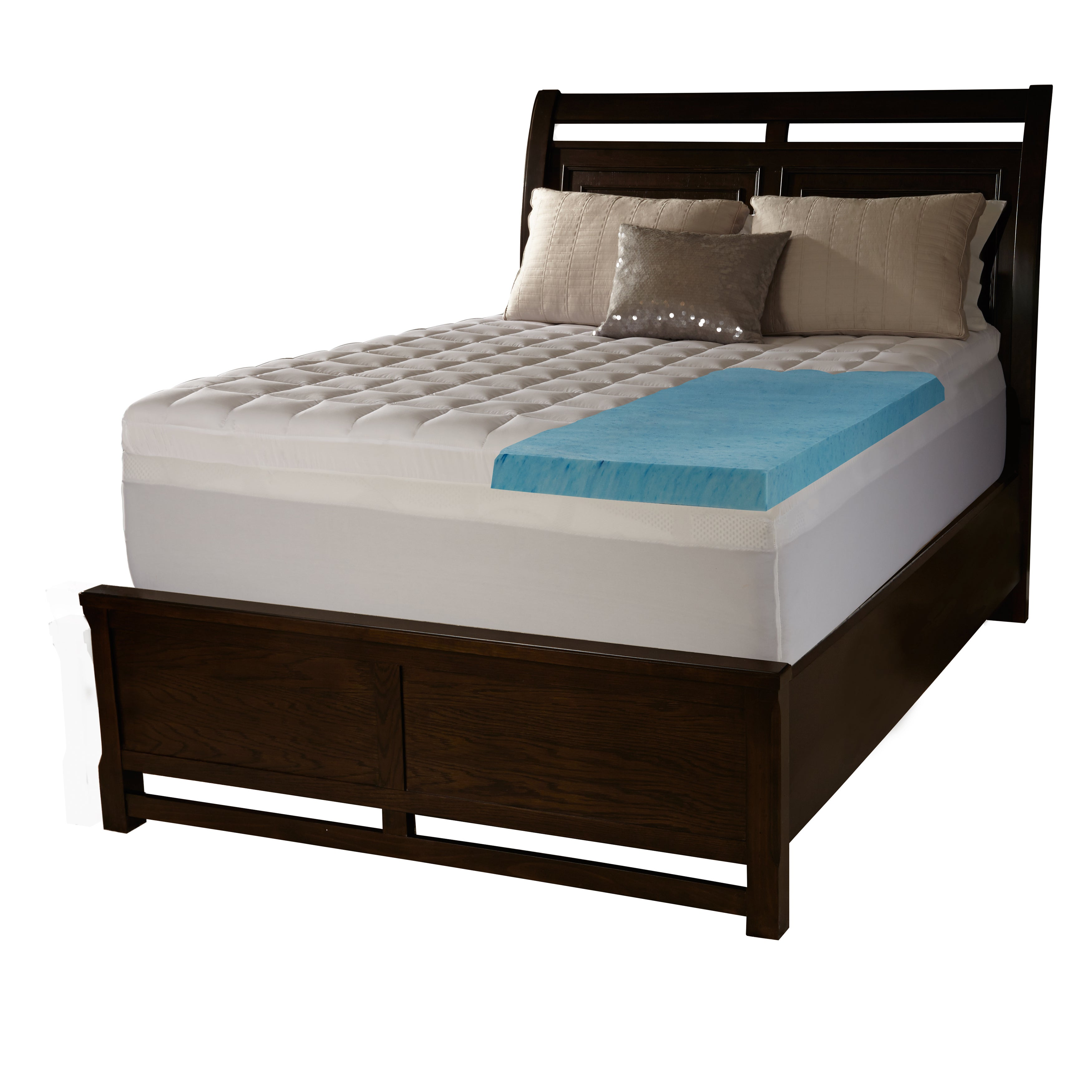 fiber free swisslux blend foam mattress today bedding classic topper shipping and product inch overstock memory bath