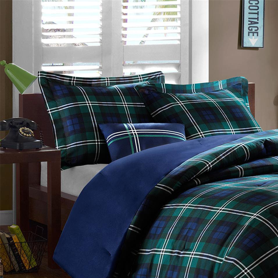 vanessacamilleshaunapriscilla vanessa piece ebay of p comforter green set madison picture plaid olliix sideview park gold