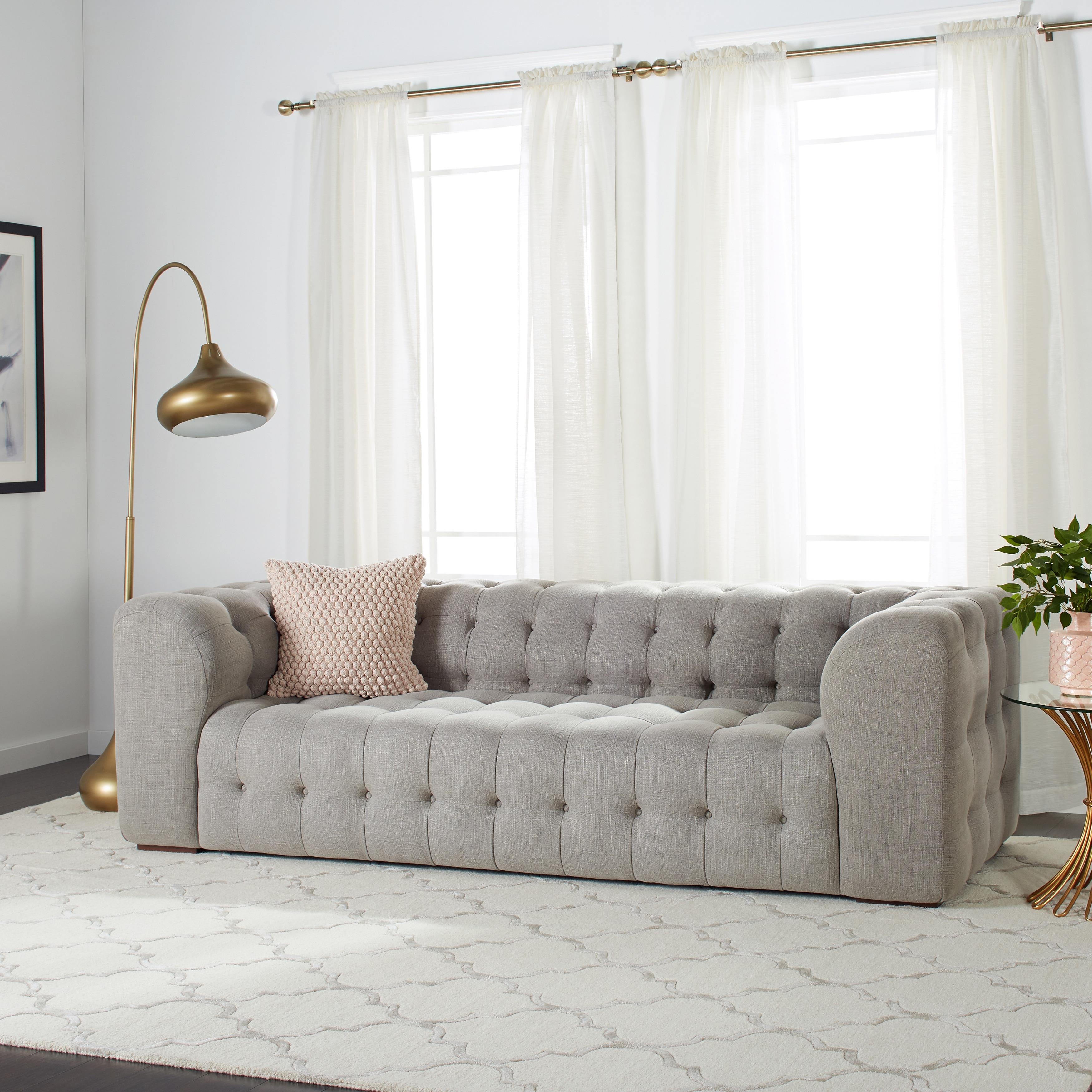 Havenside Home Sackville Nova Steel Linen Sofa   Free Shipping Today    Overstock   15465014