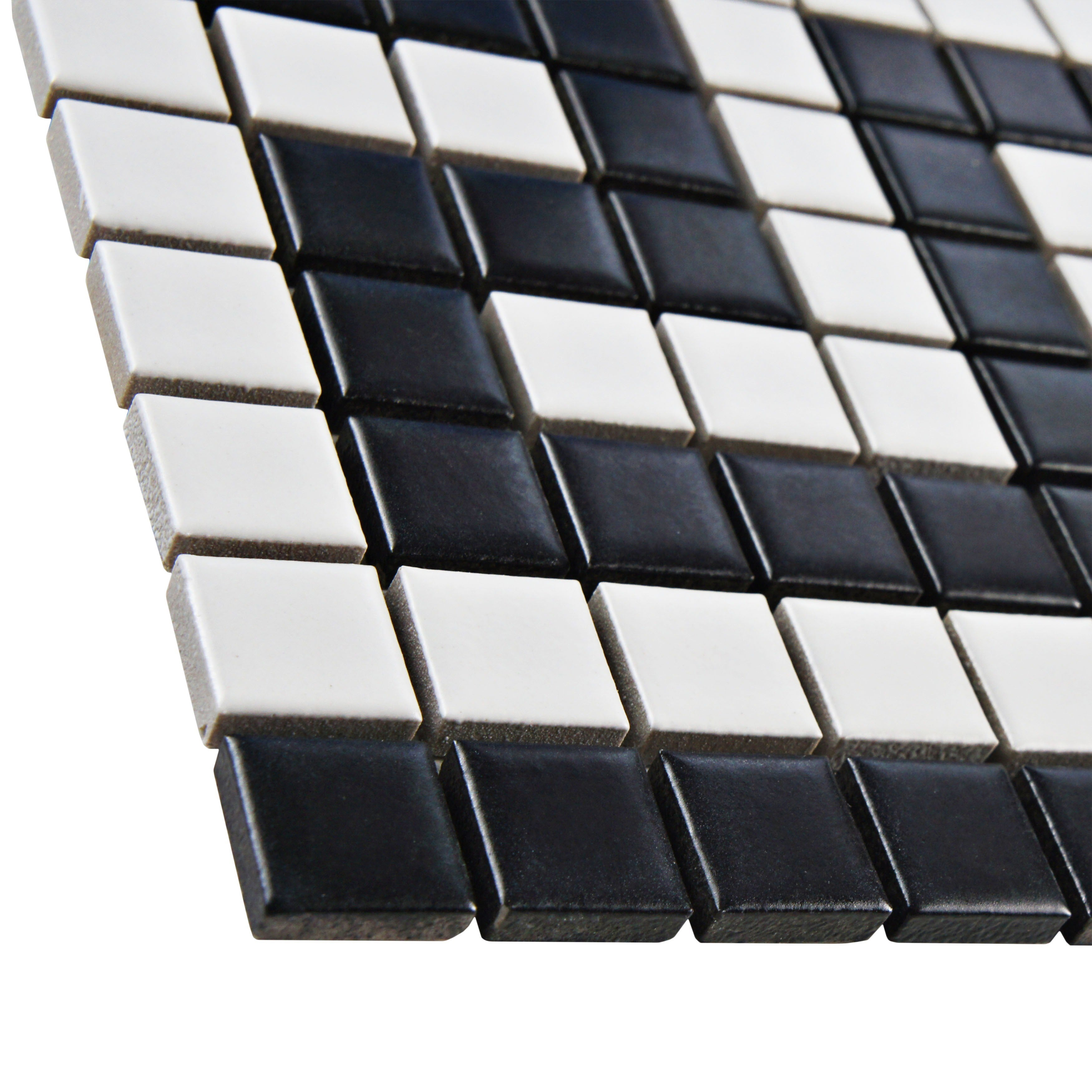Shop Somertile 8x10 5 Inch Victorian Greek Key Matte White And Black Border Porcelain Mosaic Floor And Wall Tile 10 Tiles Free Shipping Today