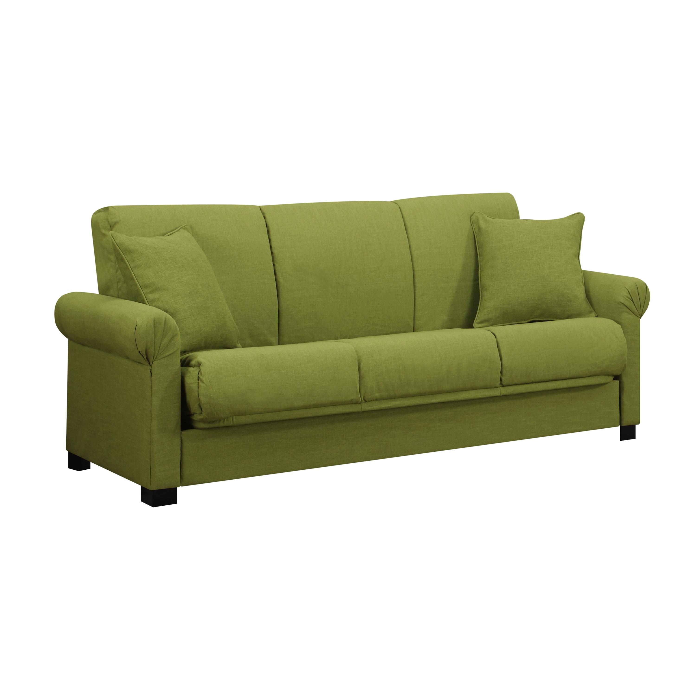 Handy Living Rio Convert A Couch Le Green Linen Futon Sofa Sleeper Free Shipping Today Com 8119646