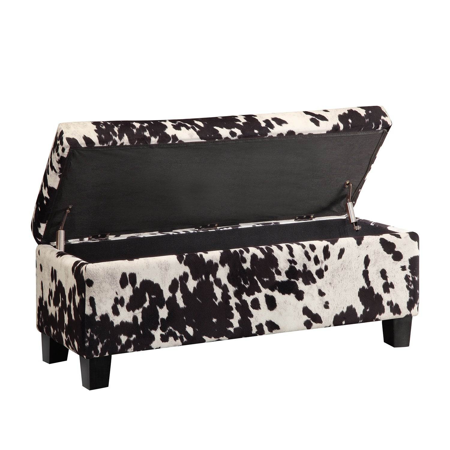 Delightful Shop Sauganash Black Cowhide Print Lift Top Storage Bench By INSPIRE Q Bold    On Sale   Free Shipping Today   Overstock.com   8119657
