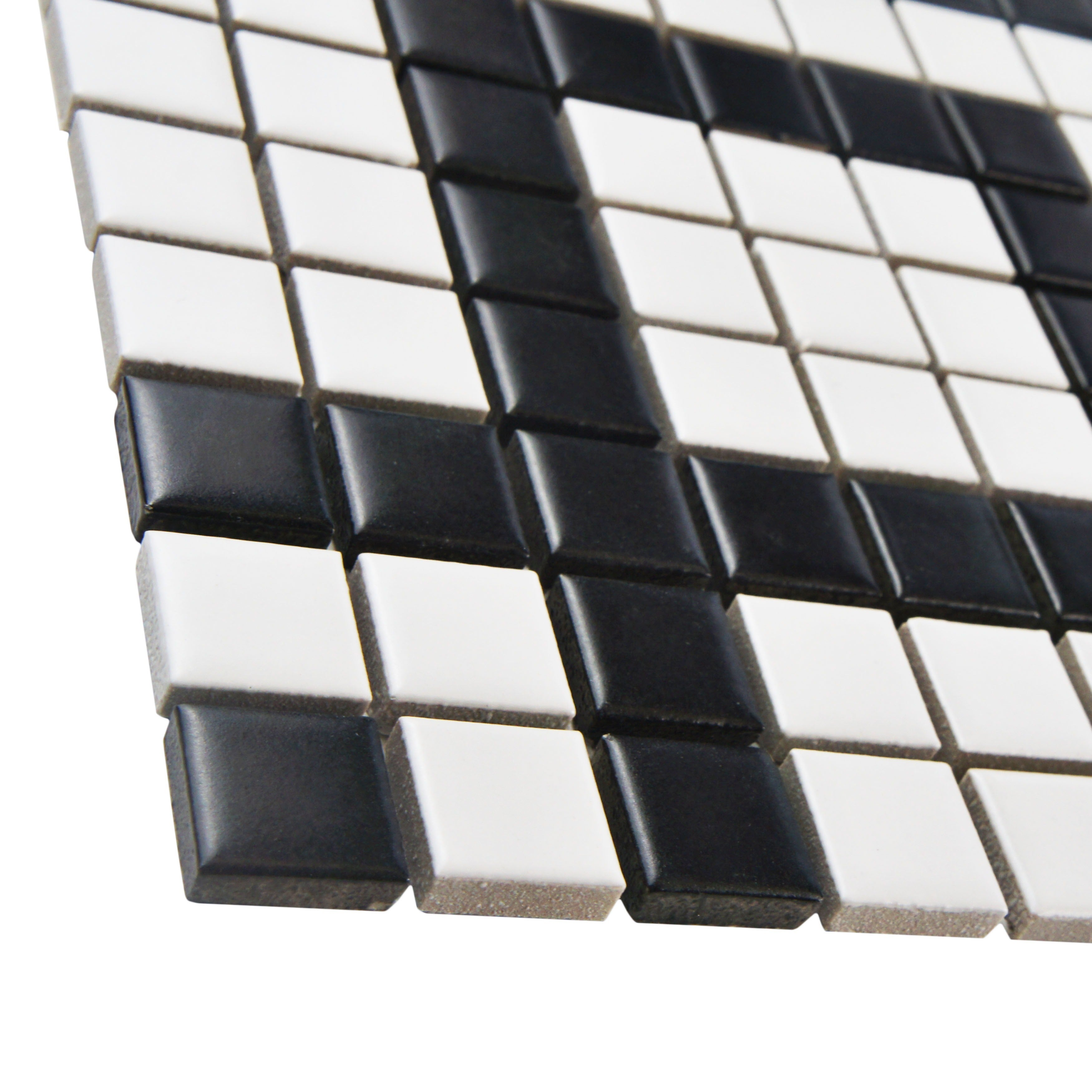 Shop Somertile 8x8 Inch Victorian Greek Key Matte White And Black Corner Porcelain Mosaic Floor And Wall Tile 4 Tiles Free Shipping On Orders Over 45